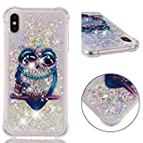 iPhone XS Max Case - UZER Shockproof Cute Bling Quicksand Moving Flowing Floating Luxury Twinkle Glitter Shining Sparkle TPU Bumper Full-Body Protective Liquid Case for iPhone Xs Max 6.5 Inch 2018