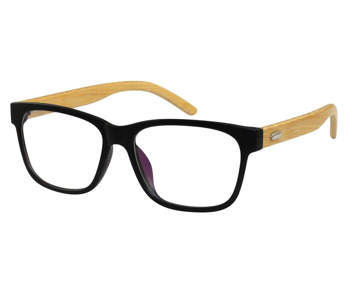 EyeBuyExpress Wayfarer Black Reading Glasses Magnification Strength 3.5