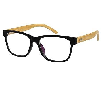 68cba687b7da Amazon.com  EyeBuyExpress Wayfarer Black Reading Glasses ...