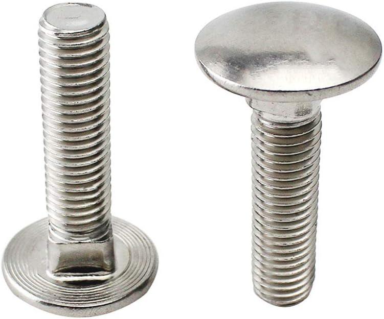 Abimars boulons de carrosserie carr/és en acier inoxydable 10 mm x 50 mm Lot de 10 T/ête Ronde /à Col Carr/é 3//8-16 x 2