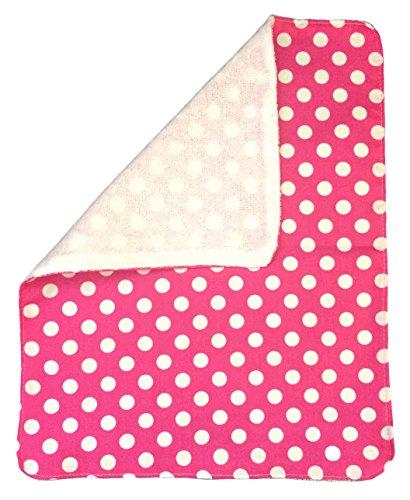 un Pattern Print Burp Cloths (Hot Pink/White Dot) (Hot Dots Burp Cloths)