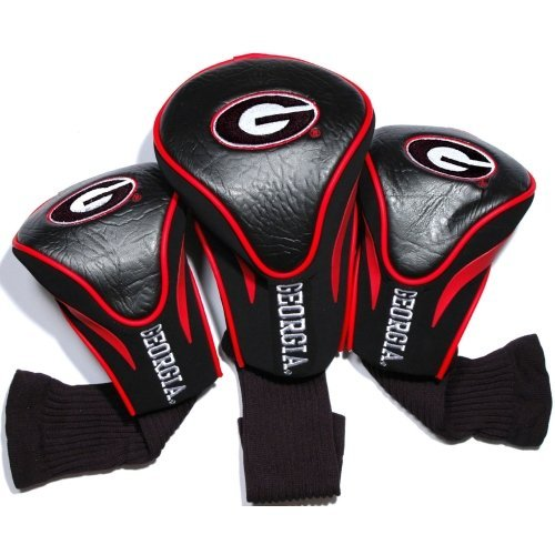 NCAA Georgia Bulldogs 3 Pack Contour Head Covers (Georgia Bulldogs Golf)
