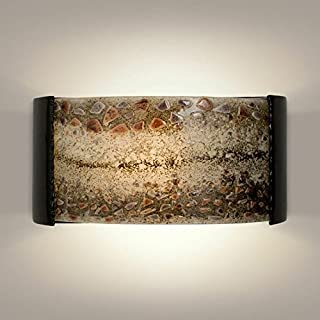 product image for A19 Ebb and Flow Wall Sconce, 3.75-Inch by 14-Inch by 7-Inch, Black Gloss/Multi Galaxy
