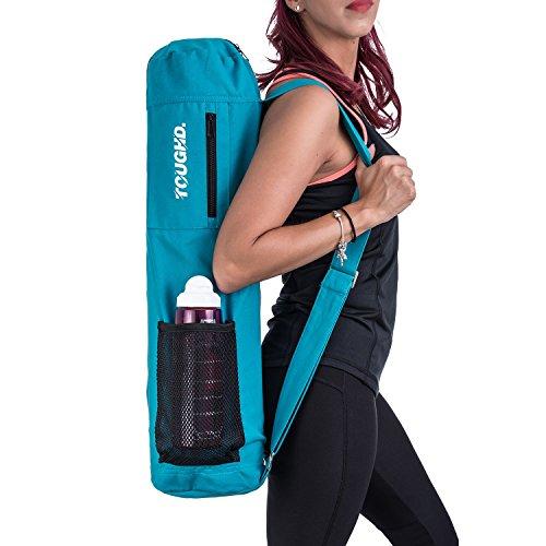 100% Cotton Yoga Bag by Toughd | Turquoise Yoga Mat Bag 26