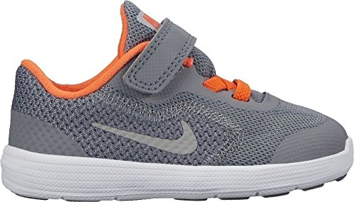 Nike Revolution 3 (TDV), Zapatillas de Running Unisex Niños Grey