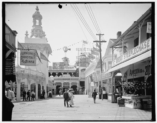 (HistoricalFindings Photo: South end,Bowery,amusement parks,Greet Steeplechase,Coney Island, York,c1903)