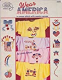 img - for American School of Needlework Book No. 3558, Wear America in Cross Stitch with Waste Canvas book / textbook / text book