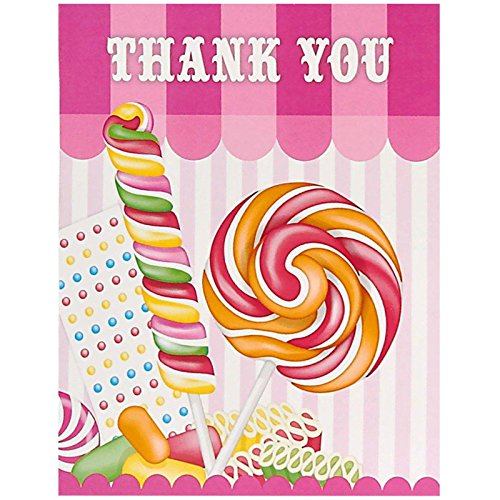 Carnival Candy Shoppe Party Supplies - Thank-You Notes (Candyland Themed Costumes)