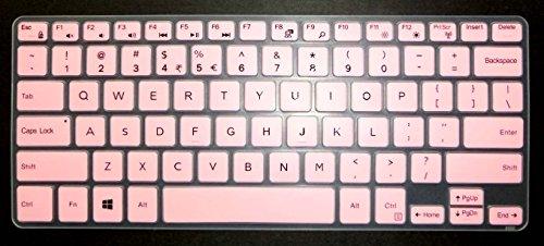 BingoBuy US Layout Keyboard Protector Skin Cover for 11.6 Dell Inspiron 11-3162 11-3168 11-3169 11-3179 11-3180 11-3185 i3162 i3168 i3169 i3179 i3180 i3185 Card Case (Pink)