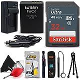 SanDisk 32GB Ultra SD Memory Card + LP-E8 / LP-E8 Battery / Charger + Xtech Starter Kit for Canon EOS 550D 600D 700D EOS Rebel T2I T3i T4i T5i DSLR Cameras