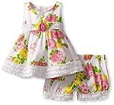 51biqU5e47L. SL160  Biscotti Baby Girls Newborn Fresh Bouquet Top and Bloomer, White, 0 6 Months