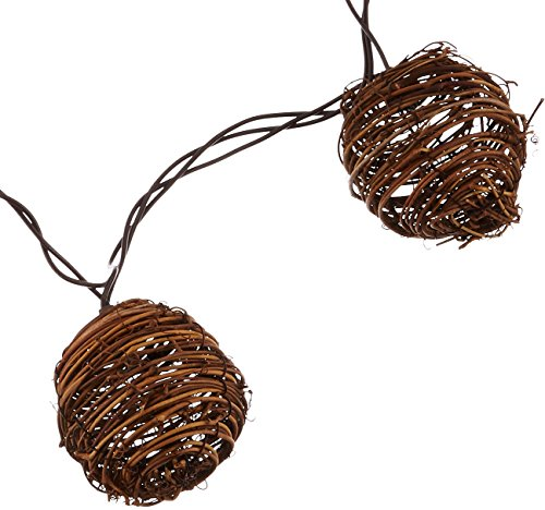 Gerson 2201200 FS 10-Light Rattan Light Set (Lights Rattan Ball Diy)