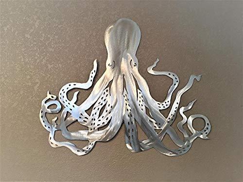 Amazon Com Octopus Metal Wall Art Ocean Sea Creature Aluminum Home Decor Handmade