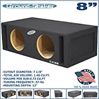 8 Dual Vented Slot Ported Sub Box Tuned 37Hz Subwoofer Enclosure Ground-Shaker