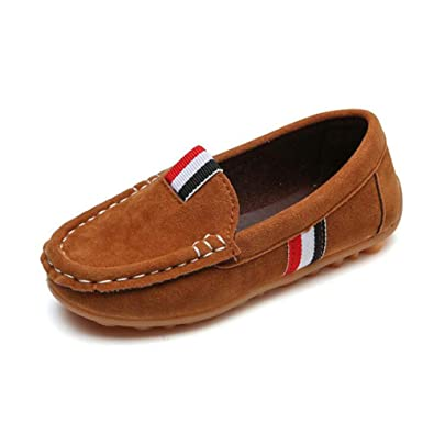 Feidaeu Kids Casual Shoes Suede Leather Boys Loafers 21-36 Boys Slip-on Soft f8d8a25101a44