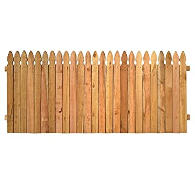 3.5 ft. x 8 ft. Western Red Cedar Privacy French Gothic Fence Panel Kit - Unassembled