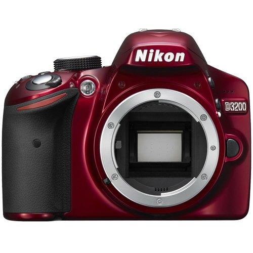 Nikon D3200 Digital SLR Camera Body (Red)