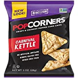 POPCORNERS Kettle Corn Popped Corn Snacks, Gluten Free, Non-GMO, Single-Serve 1oz Bags (Pack of 40) - Packaging May Vary