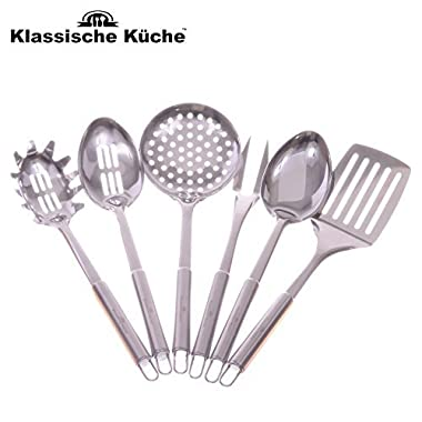 Klassische Kuche (TM) Professional Grade Stainless Steel Flatware 6 Piece Kitchen Tool and Gadget Set