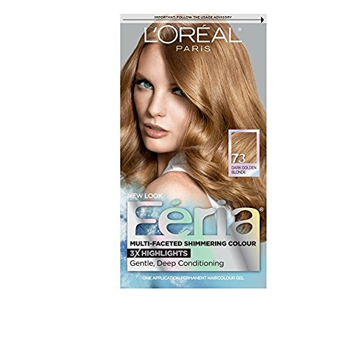 L'Oreal Paris Feria Multi-Faceted Shimmering Colour, Golden Sunset 73 (Pack of 3)