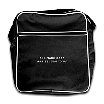 Dressdown All Your Base Are Belong To Us - Retro Flight Bag Black   Amazon.co.uk  Luggage db96e89070