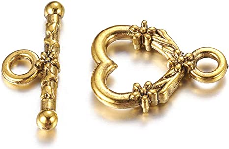 Tibetan Diamond Toggle Clasps Antique Gold 21 x 24mm  10 Pcs Findings Jewellery