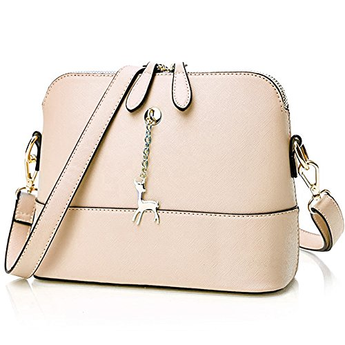 SiMYEER Stylish Crossbody Bags Shoulder Bag Purses for Women Small Ladies Handbags Messenger Bags (Y-Beige) by SiMYEER
