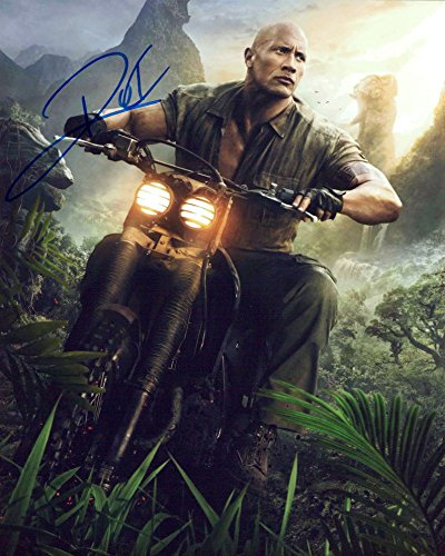 Amazon Com Dwayne Johnson Jumanji Signed 8x10 Photo