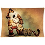 Hertanercase Calvin and Hobbes Custom Zippered Soft Pillow Cases 20x30 (Two sides)