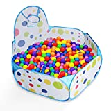 LPRTALK Kids Ball Pit Ball Tent Toddler Ball Pit with Basketball Hoop and Zippered Storage Bag for Toddlers 4 Ft/120CM (Balls not Included)