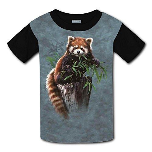Yangjio Tee Shirt Love Red Panda Print XL Short Sleeve For Children ()