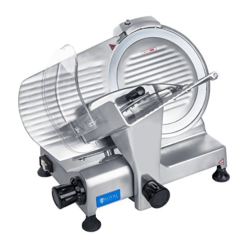 Royal Catering - RCAM 220PRO - Meat Slicer - 0 to 12 mm - 120 W - Ø 22 cm...