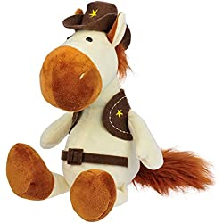 William Hunter Equestrian HappyROSS Plush Horse ' Sherriff ' - Comes with A Vest, Belt & A Cowboy Hat - Great As A Present for Children Or As A Very Soft & Cuddly