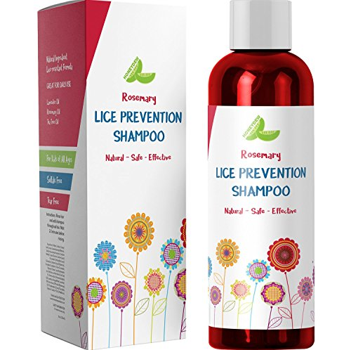 Head Lice Shampoo - Lice Prevention & Repellent - Kid's Shampoo Lice Treatment with Rosemary Essential Oil - Tea Tree Oil Dandruff Shampoo for Oily Hair & Itchy ()