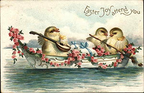 Easter Joy attend you With Other Animals Original Vintage Postcard from CardCow Vintage Postcards