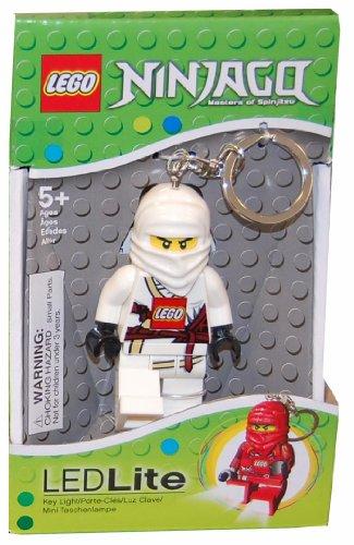 Lego White Ninjago Key Light Clip On Keychain Figure