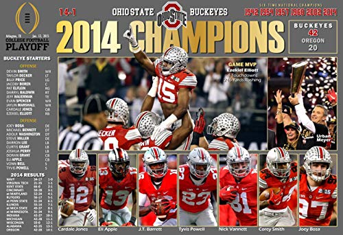 PosterWarehouse2017 Ohio State Beats Oregon, WINS 2014 National Championship Commemorative Poster