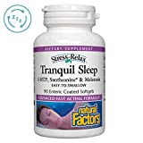 Stress-Relax Tranquil Sleep by Natural Factors, Sleep Aid with Suntheanine L-Theanine, 5-HTP, Melatonin, 90 softgels (45 Servings)