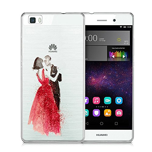 Vanki® Huawei P8 Lite Funda, Protectiva Carcasa de Silicona de gel TPU Transparente Ultra delgada Amortigua los golpes Case Cover Para Huawei P8 Lite (2015) Tecnología IMD 06