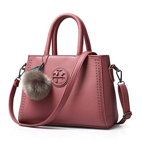Vveda High Grade 2020 Pu Fashion Design Handbag For Female(dark Pink)