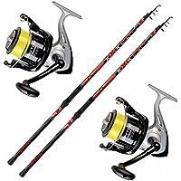Lineaeffe - Kit SurfCasting 2cannes à pêche Vigor mormora 4,20+ 2Dayton 6500fils de pêche
