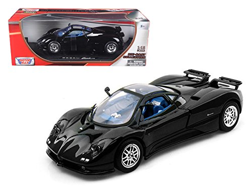 (StarSun Depot Pagani Zonda C12 Black 1/18 Car Model by Motormax)