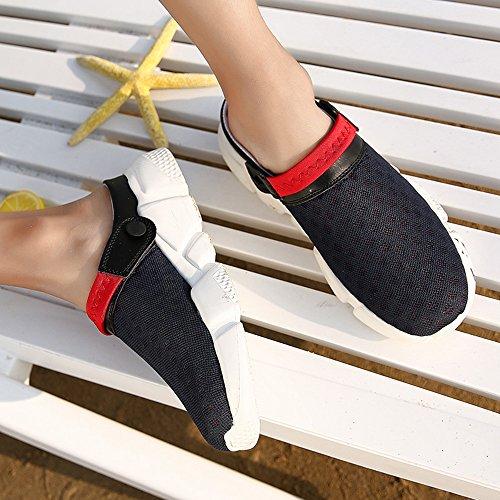 Uomo DADAZE Zoccoli Casual Spiaggia Sandali Red da Respiranti Antiscivolo Pantofola Scarpe per Sport ASgqpdrwng