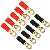 fe22b707cc Enjoygous 10 Pack 4 Gauge AWG Crimp Ring Terminals Connectors