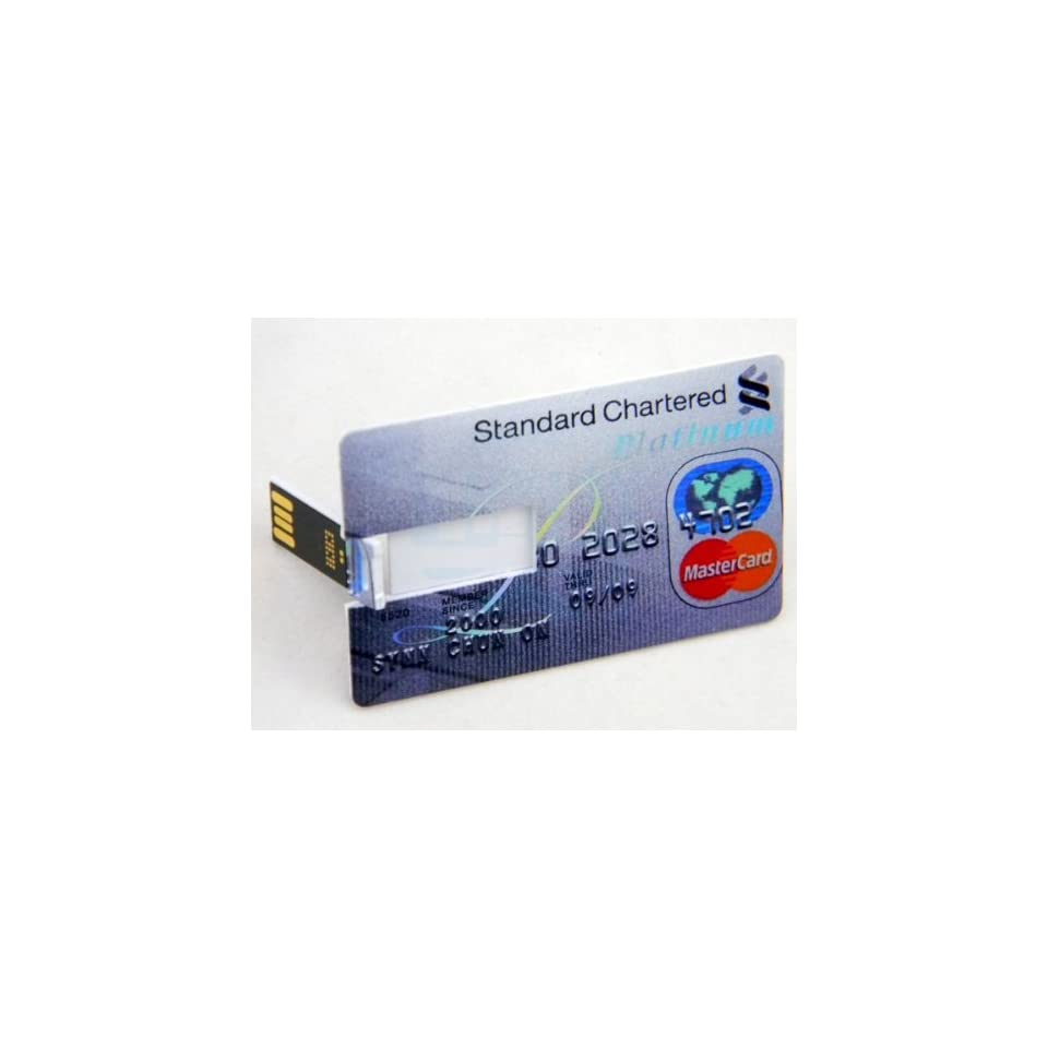 16GB Digital USB Flash Memory Card Stick U disk with Bank Credit Cards Style Computers & Accessories