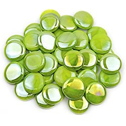 Gemnique X-Large Glass Gems - Lime Green Opaque Luster (48 oz.)