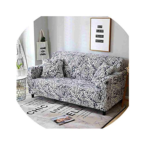 rather be Floral Printed Slipcover for Living Room Elastic Converts Cover,Onyx,Loveseat ()