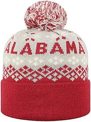 Amazon.com   Top of the World Alabama Crimson Tide Official NCAA Cuffed Knit  Advisory Stocking Stretch Sock Hat Cap Pom Beanie 457505   Sports   Outdoors e02043db3242