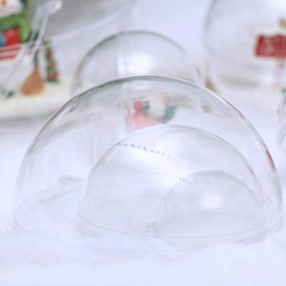 Vuffuw Clear Ornaments Ball DIY Plastic Fillable Pack of 10 and 20 Custom Decorations D/écorations for Wedding Party Decoration Festival Gifts
