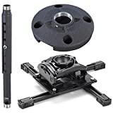Chief KITQD0305 Projector Mount Kit, Includes RPMAU Elite Universal Projector Mount, CMS0305 3-5' Adjustable Extension Column, CMS115 6'' (152 Mm) Speed-connect Ceiling Plate